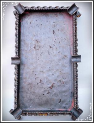 SCRUMIERĂ MARE ȘI VECHE DIN FIER PT. 6 ȚIGĂRI, CONFECȚIONATĂ MANUAL, 0.6 KG! foto