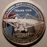 5.194 ROMANIA AVIATIE TAROM TRAIAN VUIA PRIMUL ZBOR MONTESSON 2006 PROOF 50mm