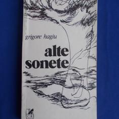 GRIGORE HAGIU - ALTE SONETE - EDITIA 1-A - 1983