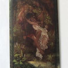 """""""Leaganul"""" veche pictura ulei"""