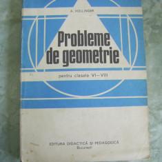 PROBLEME DE GEOMETRIE CLASELE VI - VIII - A. HOLLINGER - Culegere Matematica