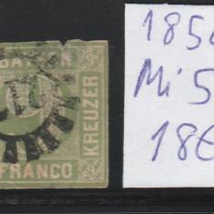 Bayern - timbru stampilat - Mi. nr.: 5 - 1850, Nestampilat