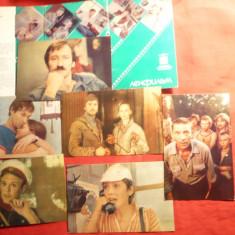 Carnet cu 15 Fotografii -Actori din Filme Rusesti - URSS 1984