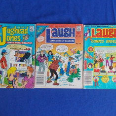 LOT 3 REVISTE BENZI DESENATE : ARCHIE DIGEST LIBRARY - 1981/1987