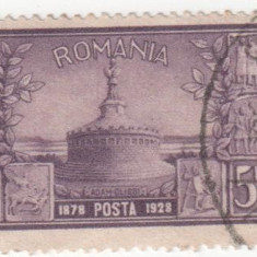 Dobrogea - 50 ani de la Unire, 1928, 5 lei, obliterat - Timbre Romania, Stampilat