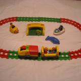 Playmobil 1-2-3 - set trenulet mobil pentru 1an+