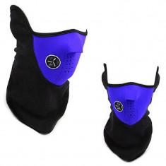 Masca protectie fata din neopren albastra, paintball, ski, motociclism, airsoft - Echipament Airsoft