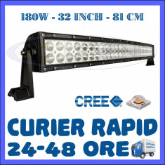 PROIECTOR LED CREE CURBAT, COMBO BEAM, 81 CM 180W, 12V 24V, OFFROAD SUV UTILAJE
