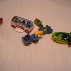 Playmobil 1-2-3 - Lot 6 jucarii : autobuz, barca, motocicleta, elicopter etc