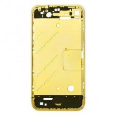 Carcasa mijloc Apple iPhone 4 Originala Aurie