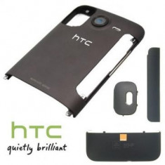 Carcasa HTC Desire HD 4 piese Orange Originala Gri SWAP