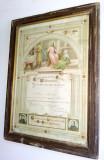 Act de confirmare - litografie bisericeasca germana, datat 16 martie 1902