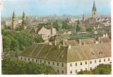 % carte postala(ilustrata)-SIBIU-Orasul vechi, Circulata, Printata
