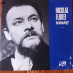 Nicolae florei vol II romante stm epe 0976 disc vinyl lp Muzica Populara electrecord folclor, VINIL