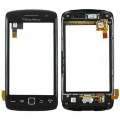 Carcasa fata cu touchscreen BlackBerry Torch 9860 Originala Neagra - Touchscreen telefon mobil