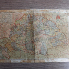Harta veche.Transilvania sub ocupatie Ungara.Reducere!