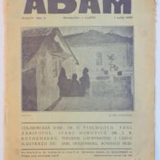 REVISTA ADAM, ANUL II, NR. 3, 1 IULIE 1930, REDACTOR I. LUDO