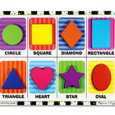 Puzzle Melissa & Doug Lemn In Relief Forme Geometrice Melissa And Doug
