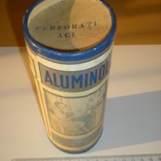 Veche cutie Aluminol - uz domestic - cu continut - de colectie - carton - Cutie Reclama