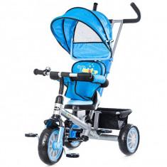 Tricicleta Cu Copertina Si Sezut Reversibil Chipolino Twister Blue 2015 - Tricicleta copii