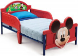 Pat Cu Cadru Metalic Disney Mickey Mouse 3D, 140x70cm, Rosu, Delta Children