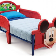 Pat Cu Cadru Metalic Disney Mickey Mouse 3D, 140x70cm, Rosu