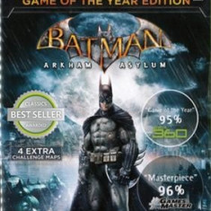 Batman Arkham Asylum Game Of The Year Edition Xbox360 - Jocuri Xbox 360, Actiune, 16+