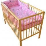 Lenjerie Pisicuta Roz 4+1 Piese 140X70 - Lenjerie pat copii