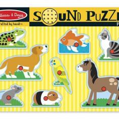 Puzzle De Lemn Cu Sunete Animale De Companie Melissa And Doug