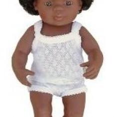 Baby Afroamerican Fata Miniland 40 Cm - Papusa