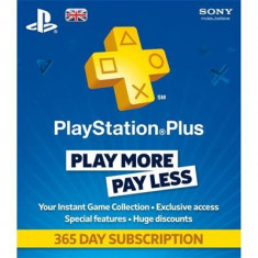 Playstation Plus 1 Year Subscription Card Ps3 - Jocuri PS3 Sony