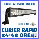 PROIECTOR LED CREE CURBAT, COMBO BEAM, 127 CM 300W, 12V 24V, OFFROAD SUV UTILAJE
