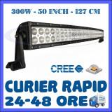 PROIECTOR LED CREE CURBAT, COMBO BEAM, 127 CM 300W, 12V 24V, OFFROAD SUV UTILAJE - Proiectoare tuning ZDM, Universal