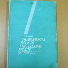 Tratamentul bolilor prin legume si fructe Jean Valnet Bucuresti 1986 - Carte Dietoterapie