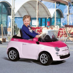 Peg Perego - Fiat 500 Pink/Fucsia - Masinuta electrica copii
