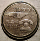 1.823 UNGARIA JETON TELEFONIC TELEFON ERME MAGYAR POSTA 21mm