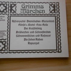 GRIMM-BASME-CARTE PENTRU COPII --IN GERMANA BOGAT ILUSTRATA COLOR - Carte de povesti