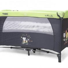 Patut Pliant Bebe Moni Tommy Verde Gri - Patut pliant bebelusi MyKids, 120x60cm