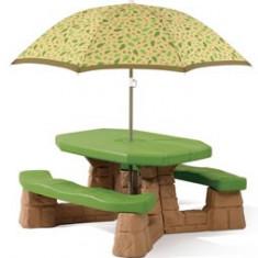 Masa Picnic Cu Umbrela Varianta Recolor - Casuta copii