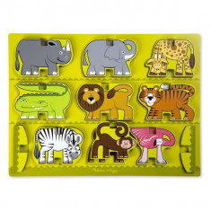 Puzzle Melissa & Doug In Relief Animale De La Zoo Melissa And Doug
