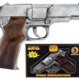 Pistol Politie Gonher Old Silver - Gh125/1 - Pistol de jucarie
