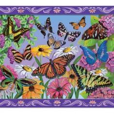 Set De Creatie Mozaic Pe Numere Peisaj Cu Fluturi Melissa And Doug - Jocuri arta si creatie Melissa & Doug