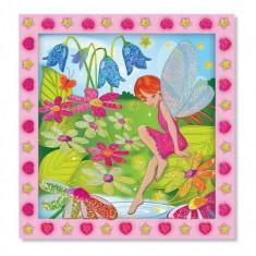Set De Creatie Mozaic Pe Numere Gradina Cu Flori Melissa And Doug - Jocuri arta si creatie Melissa & Doug