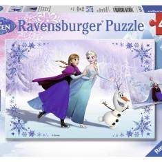 Puzzle Frozen Surori Pentru Totdeauna, 2X24 Piese - Jocuri arta si creatie Ravensburger