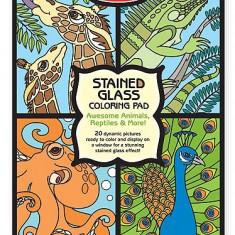 Set De Colorat Vitralii Cu Animale Melissa And Doug - Jocuri arta si creatie Melissa & Doug