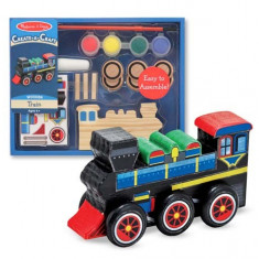 Decorati-Va Locomotiva Melissa And Doug - Jocuri arta si creatie Melissa & Doug