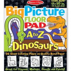 Bloc Gigant De Colorat Cu Litere Si Dinozauri Melissa And Doug - Jocuri arta si creatie Melissa & Doug