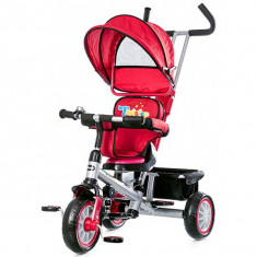 Tricicleta Cu Copertina Si Sezut Reversibil Chipolino Twister Red 2015 - Tricicleta copii