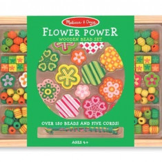 Set Margele Din Lemn Flower Power Melissa And Doug - Jocuri arta si creatie Melissa & Doug
