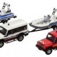 Iveco Massif + Barca Franta - Masinuta electrica copii Mondo